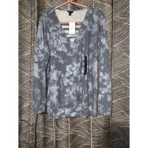 Tye-dye strappy front pullover- Torrid